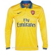 Acheter Nouveau Maillot Arsenal Manche Longue Exterieur 2013-2014