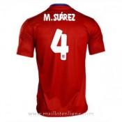 Boutique Officielle Maillot Atletico De Madrid M.Suarez Domicile 2015 2016