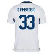 Collection Maillot Inter Milan D'Ambrosio Exterieur 2015 2016