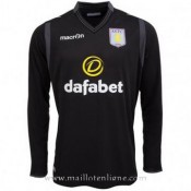 Maillot Aston Villa Ml Goalkeeper Noir 2014 2015 Officiel