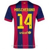 Maillot Barcelone Mascherano Domicile 2014 2015 Pas Cher