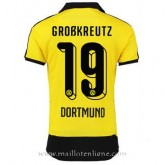 Maillot Borussia Dortmund Grobkreutz Domicile 2015 2016 Soldes Nice