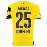 Maillot Borussia Dortmund Sokratis Domicile 2014 2015 à Petit Prix