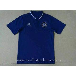 Maillot Chelsea Polo Bleu 2016 2017 Soldes France
