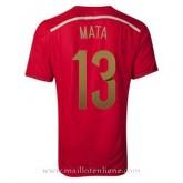 Maillot Espagne Mata Domicile 2014 2015 Boutique
