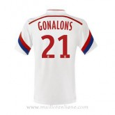 Maillot Lyon Gonalons Domicile 2014 2015 Soldes