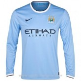 Maillot Manchester City Manche Longue Domicile 2013-2014 Promos Code