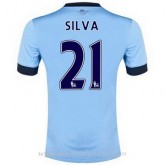 Maillot Manchester City Silva Domicile 2014 2015 Boutique