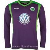 Maillot Wolfsburg Manche Longue Goalkeeper 2014 2015 Réduction Prix