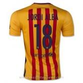 Meilleure Qualité Maillot Barcelone Jordi Alba Exterieur 2015 2016