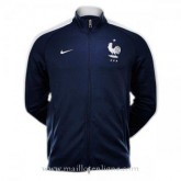 Original Veste De Foot France 2016 2017 Bleu Fonce