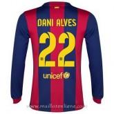 Promotions Maillot Barcelone Manche Longue Dani Alves Domicile 2014 2015