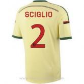Soldes Maillot Ac Milan Sciglio Troisieme 2014 2015