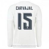 Soldes Maillot Real Madrid Manche Longue Carvajal Domicile 2015 2016