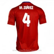 Boutique Officielle Maillot Atletico De Madrid M.Suarez Domicile 2015 2016