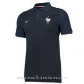 Boutique Officielle Maillot France Polo Bleu Fonce 2016 2017