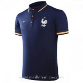 Catalogue Maillot France Polo Bleu Fonce 2017