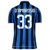 Catalogue Maillot Inter Milan D'Ambrosio Domicile 2015 2016