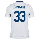 Collection Maillot Inter Milan D'Ambrosio Exterieur 2015 2016