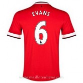 Collection Maillot Manchester United Evans Domicile 2014 2015