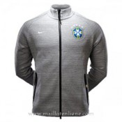 France Veste De Foot Bresil 2016 2017 Gris