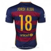 La Nouvelle Collection Maillot Barcelone Jordi Alba Domicile 2015 2016
