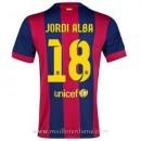 La Nouvelle Maillot Barcelone Jordi Alba Domicile 2014 2015