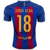 Le Nouveau Maillot Barcelone Jordi Alba Domicile 2016 2017