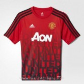 Maillot Avant-Match Manchester United Rouge 2016 Officiel