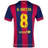 Maillot Barcelone A.Iniesta Domicile 2014 2015 Pas Cher Provence