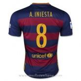 Maillot Barcelone A.Iniesta Domicile 2015 2016 Pas Chere