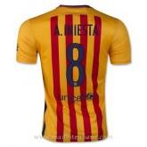 Maillot Barcelone A.Iniesta Exterieur 2015 2016 Pas Chère