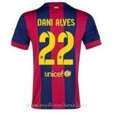 Maillot Barcelone Dani Alves Domicile 2014 2015 Rabais