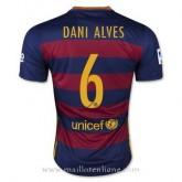 Maillot Barcelone Dani Alves Domicile 2015 2016 Rabais en ligne