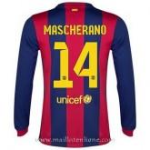 Maillot Barcelone Manche Longue Mascherano Domicile 2014 2015 Acheter