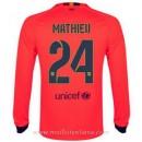 Maillot Barcelone Manche Longue Mathieu Exterieur 2014 2015 Boutique