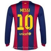 Maillot Barcelone Manche Longue Messi Domicile 2014 2015 Boutique En Ligne
