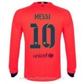 Maillot Barcelone Manche Longue Messi Exterieur 2014 2015 Boutique Paris