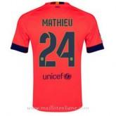 Maillot Barcelone Mathieu Exterieur 2014 2015 Pas Cher Prix