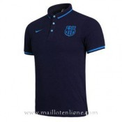 Maillot Barcelone Polo Bleu Fonce 2016 2017 Soldes France
