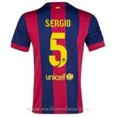 Maillot Barcelone Sergio Domicile 2014 2015 Vendre France