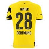 Maillot Borussia Dortmund Ginter Domicile 2014 2015 Soldes
