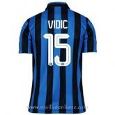 Maillot Inter Milan Vidic Domicile 2015 2016 Réduction