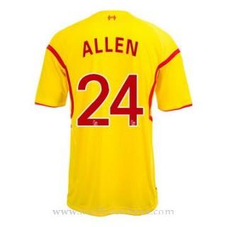 Maillot Liverpool Allen Exterieur 2014 2015 Rabais Paris