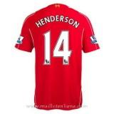 Maillot Liverpool Henderson Domicile 2014 2015 Paris