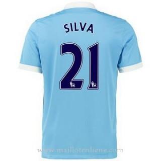 Maillot Manchester City Silva Domicile 2015 2016 Boutique En Ligne