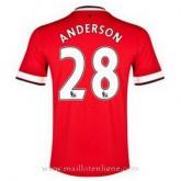 Maillot Manchester United Anderson Domicile 2014 2015 Pas Chère