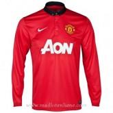 Maillot Manchester United Manche Longue Domicile 2013-2014 Magasin Lyon