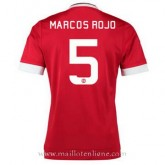 Maillot Manchester United Marcos Rojo Domicile 2015 2016 Europe