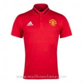 Maillot Manchester United Polo Rouge 2016 2017 Original